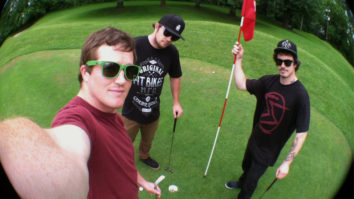 These three dudes golfing? Fore!