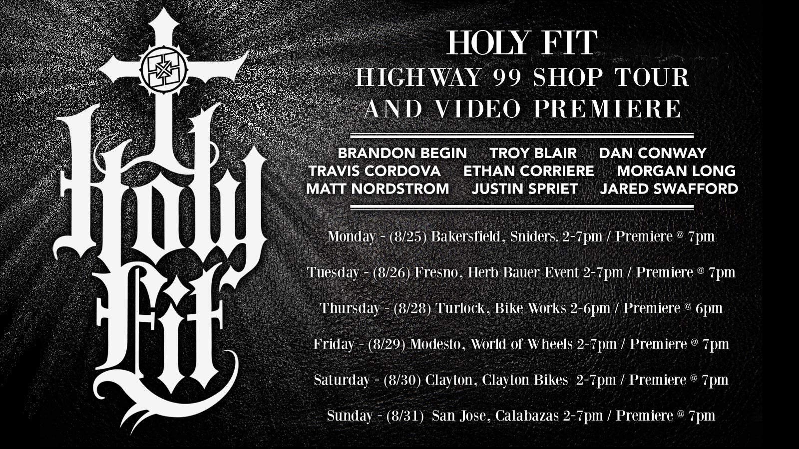 HOLY FIT SHOP AND VIDEO PREMIERE TOUR